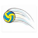 Volleyball Swish Postcard