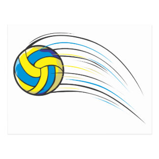 Volleyball Swish Postcard