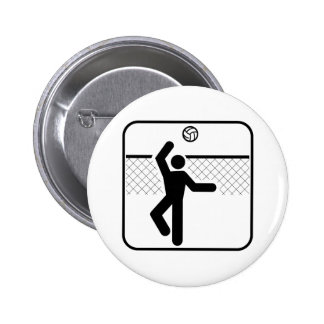 Volleyball Symbol Button