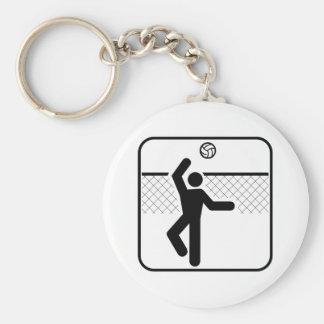 Volleyball Symbol Keychain
