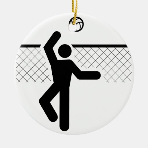 Volleyball Symbol Ornament