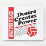 Volleyball T-Shirt Mousepads
