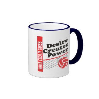 Volleyball T-Shirt Mugs