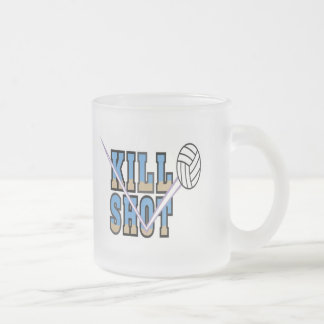 Volleyball T Shirts and Gifts Frosted Glass Coffee Mug