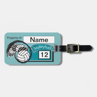 Volleyball Tag Travel Bag Tags