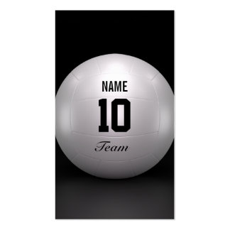 Volleyball Team Business Card