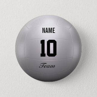 Volleyball Team Button