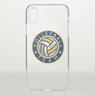Volleyball Team. Custom Player  Name. iPhone X Case