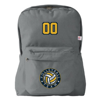 Volleyball Team. Custom Player  Name & Number. American Apparel™ Backpack