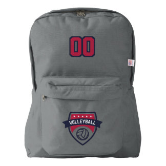 Volleyball Team. Custom Player  Number. American Apparel™ Backpack