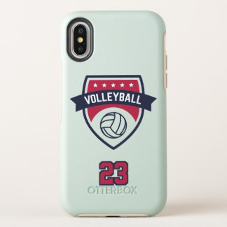 Volleyball Team. Custom Player  Number. OtterBox Symmetry iPhone X Case