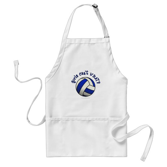 Volleyball Team Gifts - Blue Adult Apron
