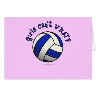 Volleyball Team Gifts - Blue Card