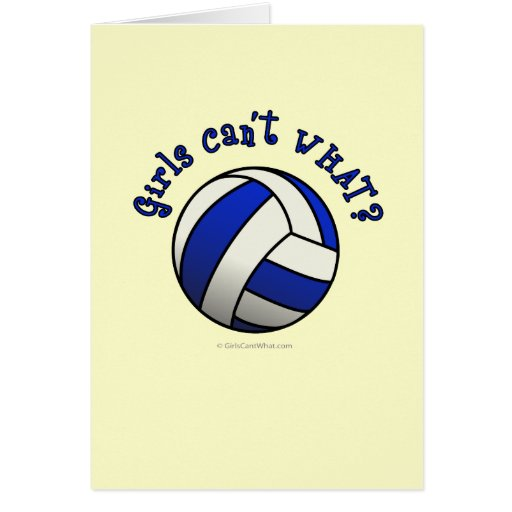 Volleyball Team Gifts - Blue Cards