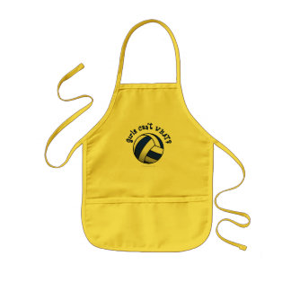 Volleyball Team Gifts - Blue Kids' Apron