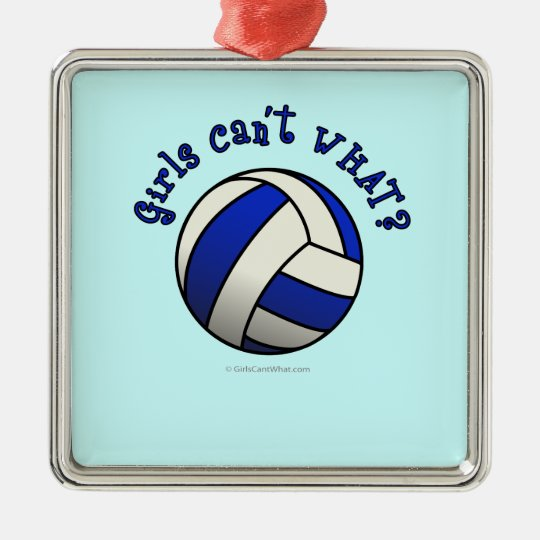 Volleyball Team Gifts - Blue Metal Ornament