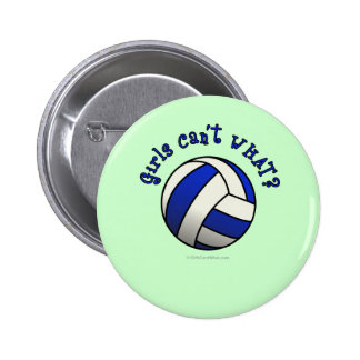Volleyball Team Gifts - Blue Pinback Button