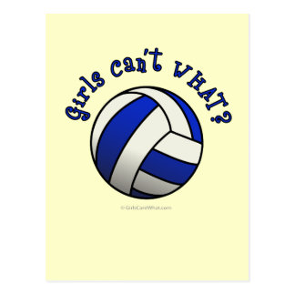 Volleyball Team Gifts - Blue Postcard