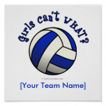 Volleyball Team Gifts - Blue Print
