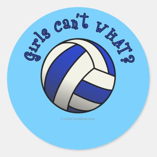 Volleyball Team Gifts - Blue Round Sticker
