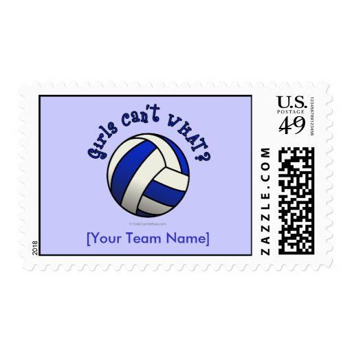 Volleyball Team Gifts - Blue Stamps