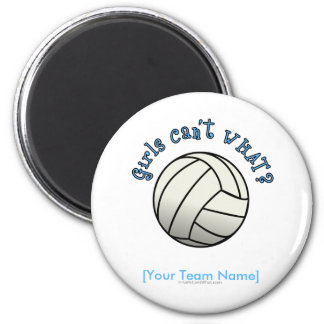 Volleyball Team Gifts - White Magnet
