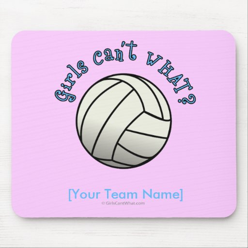 Volleyball Team Gifts - White Mouse Pad
