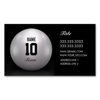 Volleyball Team Magnetic Business Card