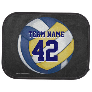 Volleyball Team Name and Number Car Floor Mat