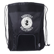 Volleyball Team Name and Player Jersey Number Drawstring Backpack