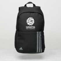 Volleyball Team Name Jersey Number Custom Sports Adidas Backpack