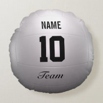 Volleyball Team Round Pillow