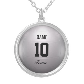 Volleyball Team Silver Plated Necklace