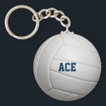 "Volleyball Texture Personalized Keychain<br><div class=""desc"">Show your love for sets and spikes with this keychain featuring volleyball texture and fully personalized with ANY name,  team or nickname (Superstar,  Hero,  Smash Master,  etc.)</div>"