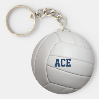 Volleyball Texture Personalized Keychain