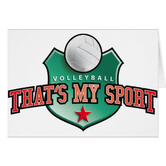 Volleyball - that's my sport greeting cards