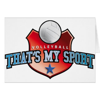 Volleyball - that's my sport cards