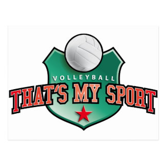 Volleyball - that's my sport post card