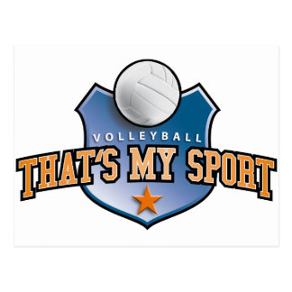 Volleyball - that's my sport postcards