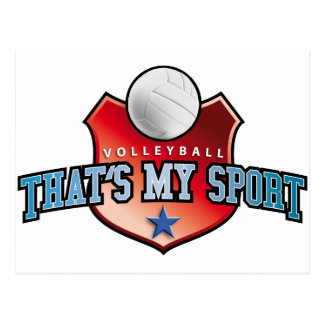 Volleyball - that's my sport post cards