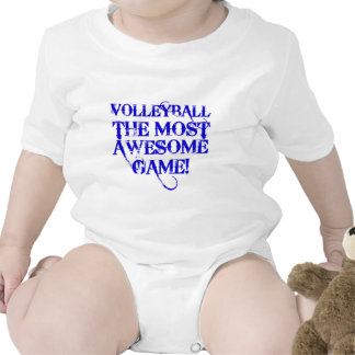 volleyball the most awesome game romper