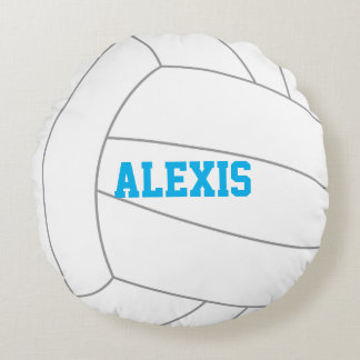 Volleyball Themed Round Pillow