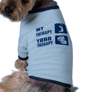 volleyball therapy designs dog t-shirt