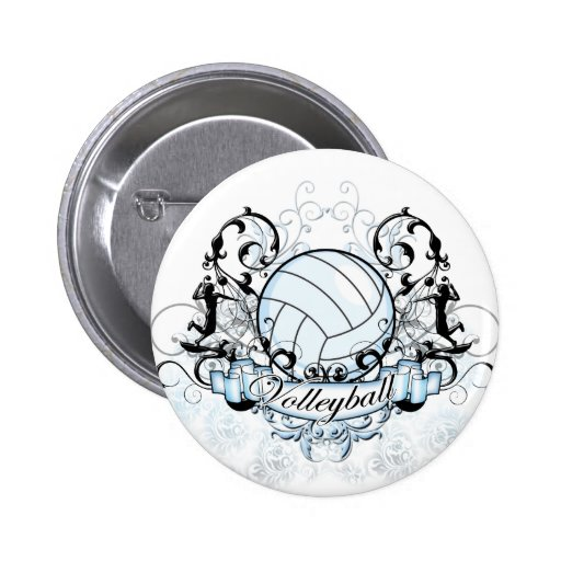 Volleyball Tribal Buttons