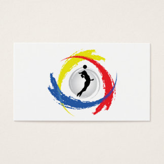 Volleyball Tricolor Emblem (Female) Business Card