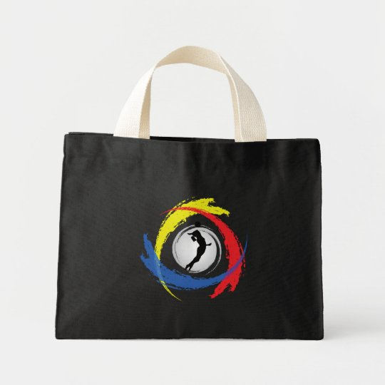 Volleyball Tricolor Emblem (Female) Mini Tote Bag