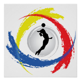 Volleyball Tricolor Emblem (Female) Poster