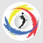 Volleyball Tricolor Emblem (Female) Sticker