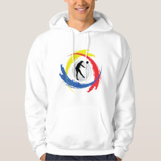 Volleyball Tricolor Emblem (Male) Hoodie