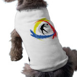 Volleyball Tricolor Emblem (Male) Pet Tee Shirt